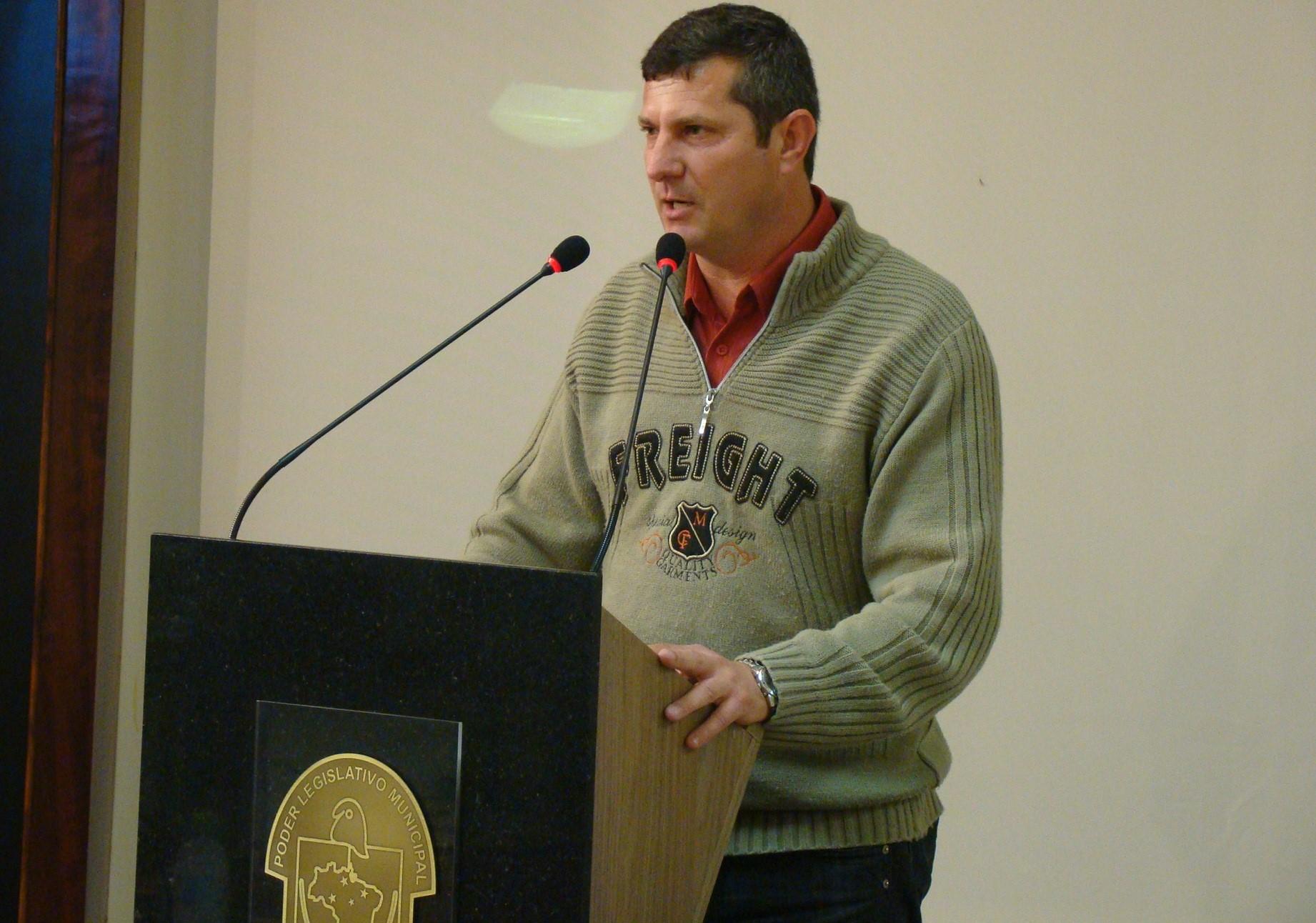 O vereador João Fiamoncini (PT)